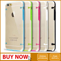 Luminous bumper Glow tpu pc cell phone case for iphone case 6