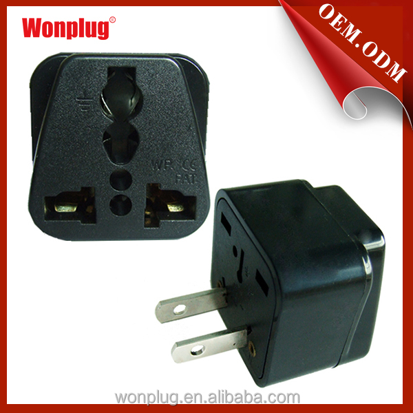 Great quality 2 flat pin World to USA travel power adapter converter