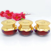 Luxury dark red Relif Embossed acrylic cosmetic jar with cap