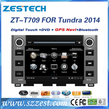 ZESTECH best price Car Audio Navigation for TOYOTA Tundra 2014 Car Audio Navigation with GPS,buletooth,ipod,RDS,3G+factory