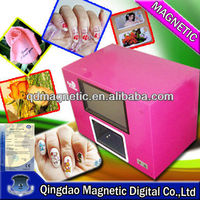 CE five fingers digital photo nail art printer for sale