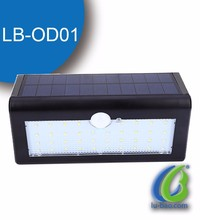 High brightness IP65 pir motion sensor solar light,solar garden led light