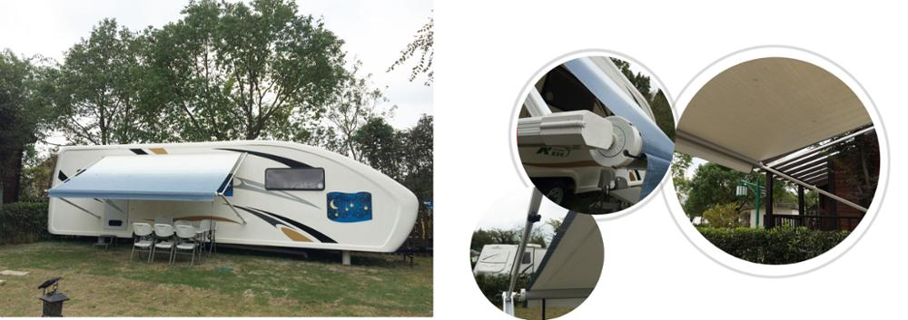 Australian standards manual control modern style motorhome trailer awning W5600C