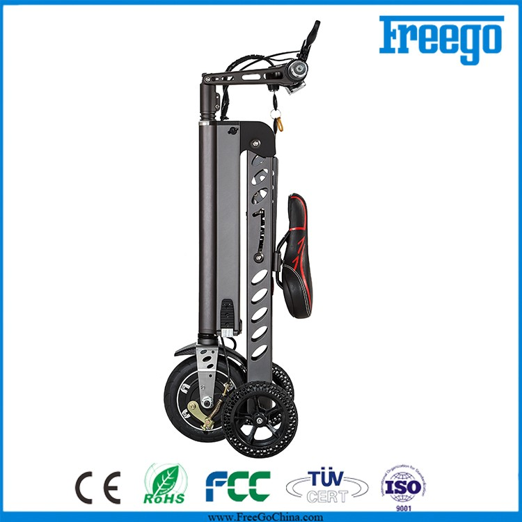 Freego ES-18 aluminum folding 3 wheel adult kick electric scooter for adult