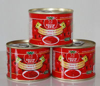 Tomato Primary Ingredient and Pasty Form canned tomato paste 22-24% brix