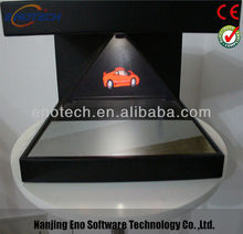 Hologarm three-dimensional display showcase for advertising, exhibition, cellphone, product launch