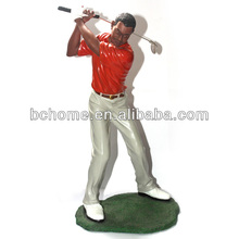 Customed realistic resin golf sports statues for decoration