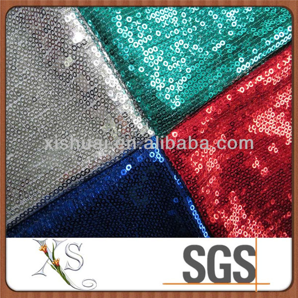 Colorful Wholesale Sequin Fabric For Short Skirt