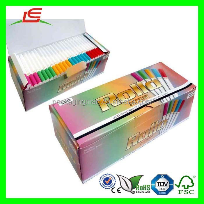 D286 Disposable Foldable Cigarette Tubes with Multi Coloured Boxes