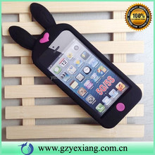 Factory Low MOQ 3D Silicon Protective Case For Iphone 5 Cute Animal Cover