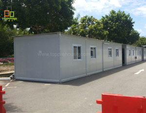 Prefab exhibition room tiny shipping container home 70 studio apartment settled in field
