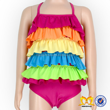 Baby Double Side One Piece Ruffle Swimsuit Kids Swimwear Beach Bathing Suit