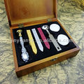 Wooden Box Sealing Wax Set For Sale