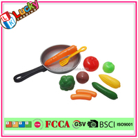 Plastic kitchen pan role play toy kids pretend play food set Children cooking play set