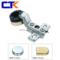 CTK High Quality Display Cabinet Glass Door Hinge One Way Slide On