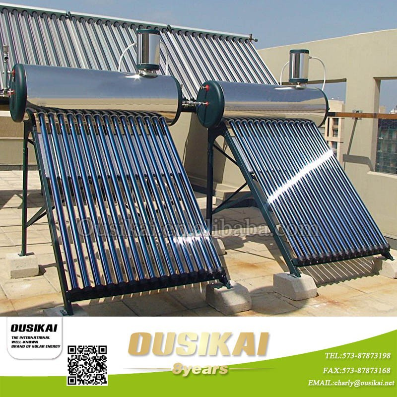 Haining Integrated solar water heater with copper heat pipe/solar water system