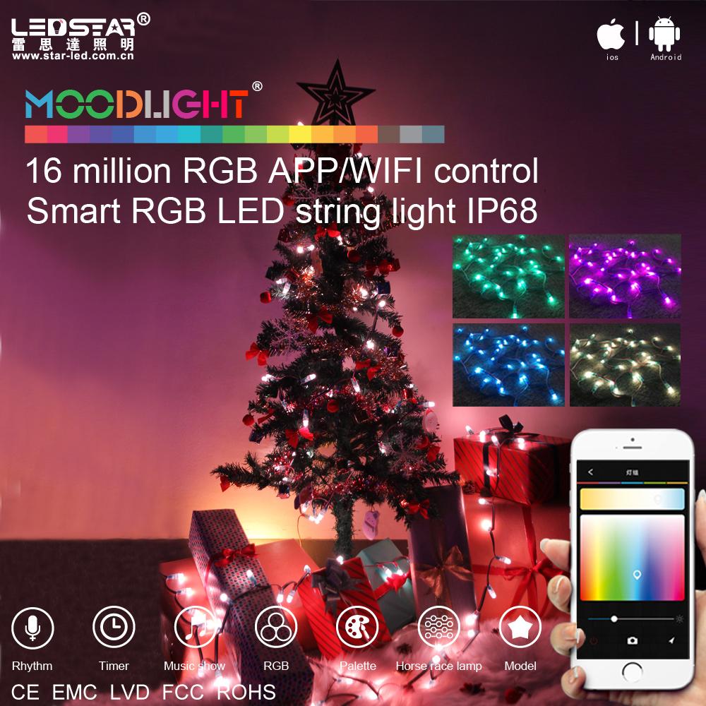 Moodlight Smart Christmas Tree Led Rgb String Light Kit App/wifi ...