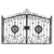 Simple Wrought Iron Latest Main Gate Designs