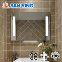 Bathroom clock mirror LED