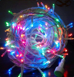 Waterproof IP67 outdoor rubber cable led string lights led fairy lights Flashing and Steady changeable led xmas lighting