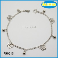 Olivia fashion gold anklet for women with silver exquisite hollow butterfly shape