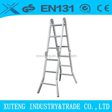 Aluminum multipurpose motorcycle ladder with en131