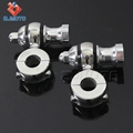 "For Most With 7/8""(22.2mm) Handlebar Clamp Polish Heavy Billet Aluminum Motorcycle Handlebar Risers"