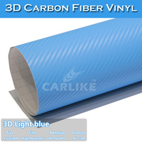 SINO CAR STICKER 1.52x30M 5*98FT Carbon Fiber High Polymer film blue full china