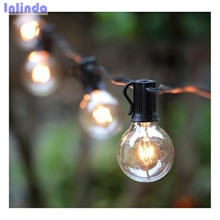 25Ft G40 Globe String Lights with Clear Bulbs, UL listed Backyard Patio Lights, Hanging Indoor/Outdoor String Light