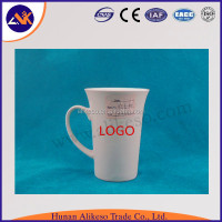 White color custom porcelain ceramic 13oz ceramic coffee mugs with handle