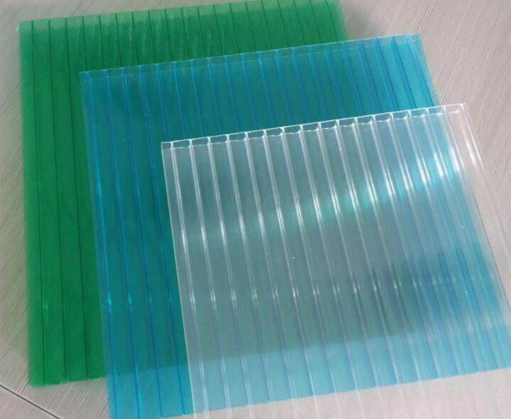 UV Coating 4/6/8/10/12mm polycarbonate hollow sheet anti fog for commercial greenhouses