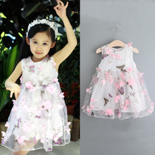 Popular Fancy Bowknot Sleeveless Stick Flower Girl Dress
