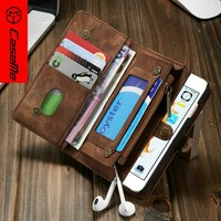 CaseMe Newest Leather Mobile Phone Case for Iphone6, wallet phone cover for iphone6 with card slot and money pocket