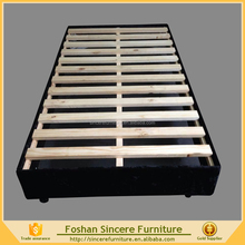 Bedroom wood furniture knocked down wooden bed base support foundation