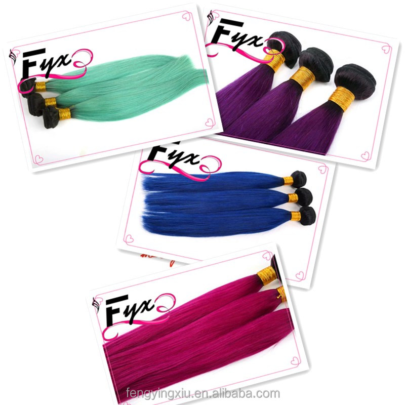 Wholesale popular hot sales chorliss beauty hair extensions single color Indian hair weaving colorful hair weft