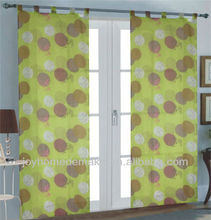 pair voile curtain with loops