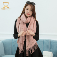 New arrive china supplier wholesale winter fashion imitate cashmere pashmina tassel shawl scarf for women
