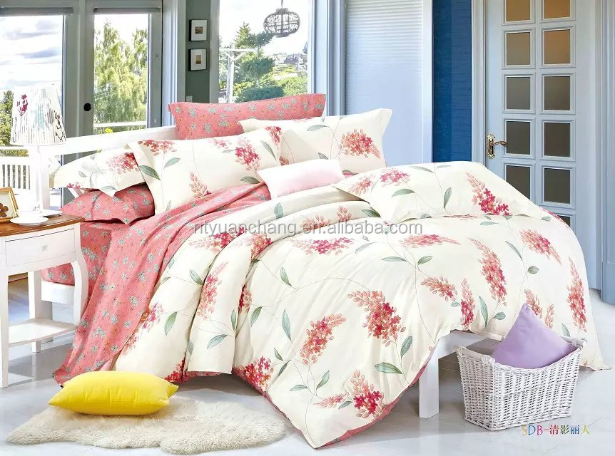 chinese luxury white home cotton printed bedding set duvet cover sets