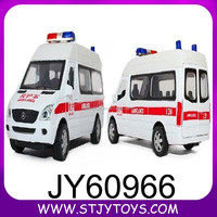 1:32 diecast models alloy white ambulance car W/LIGHT & SOUND