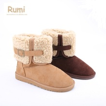Fashion Lapel Fuzzy women winter snow boots 2017