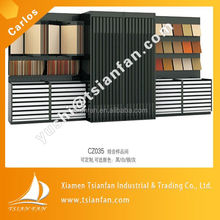 SG003 china produce glass slab metal display case