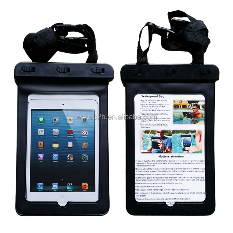 "Universal Waterproof Bag Case Carrying Dry Bag for iPad Mini and other 7"" tablets"
