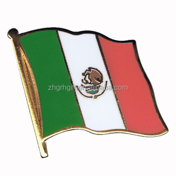 Metal national country mexico flag pin