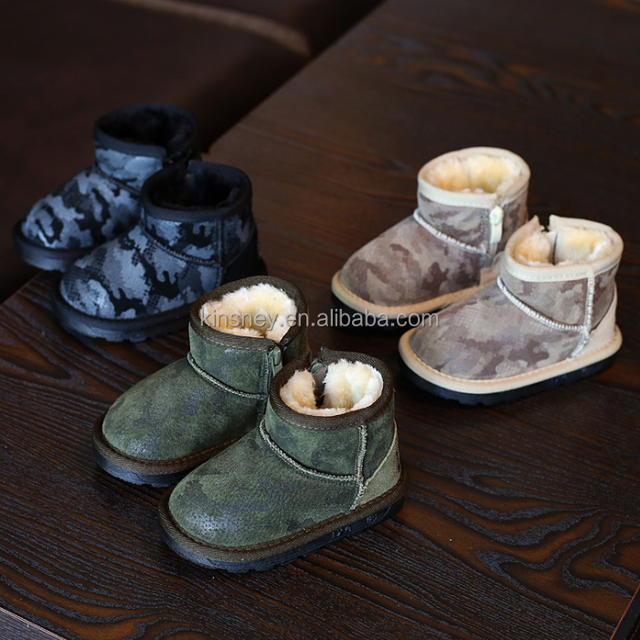 KS20079S Winter korean style camouflage children's warm snow boots