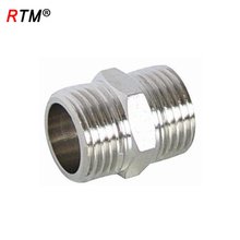 J 17 female thread welding nipple brass pipe fitting female thread nipple