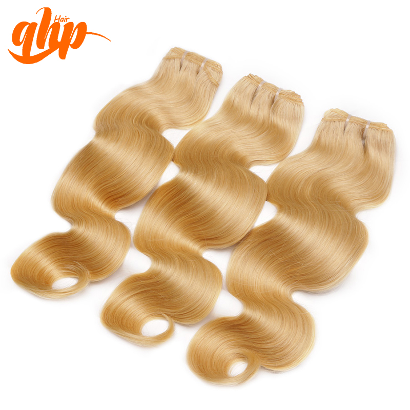 Ali Queen 8A unprocessed european remy hair color 613 blonde hair weave wholesale