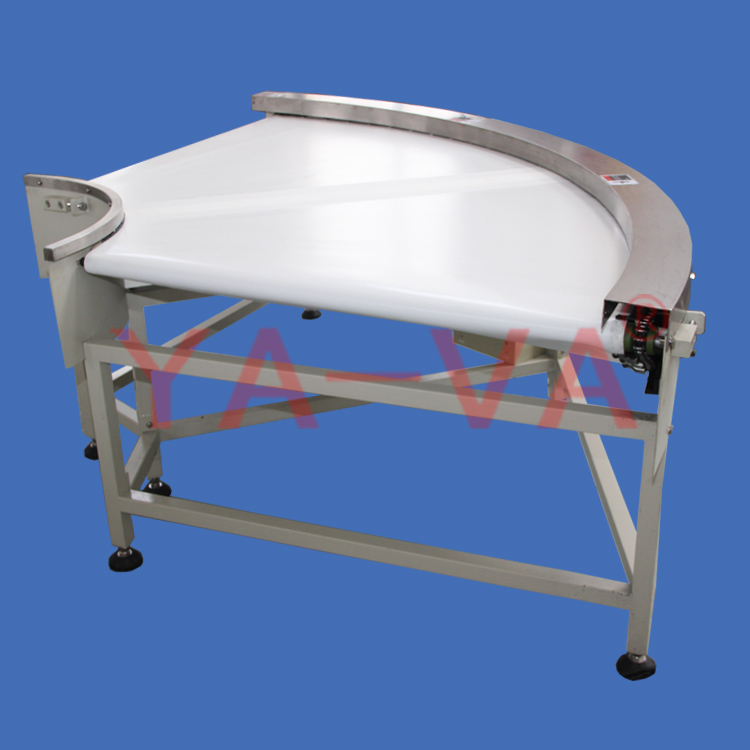 90 degree curve belt conveyor for food transfer