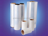 2015 new products for packaging Chinese stretch film shrink film english blue film
