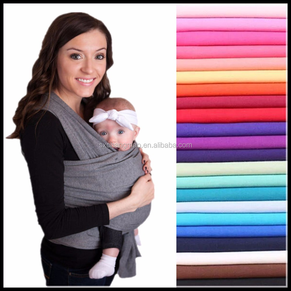 Heavy organic cotton high quality wrap baby carrier with various color