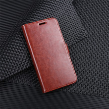 wholesale flip pu <strong>case</strong> for redmi 5 plus Oil wax skin wallet cover for redmi5 plus